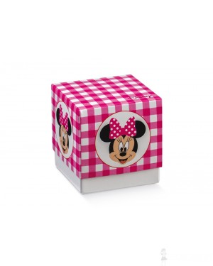 Scatola portaconfetti quadrata media Minnie Disney